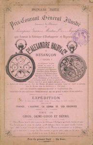 Une affiche publicitaire pour un horloger