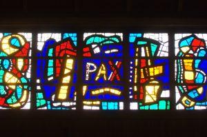 Détail d'un vitrail de l'église d'Audincourt