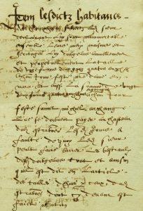 M054-I Dénombrement de 1584 de la terre d'Étrabonne