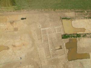 Vue aérienne de l'habitation secondaire de la villa