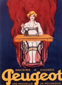 Une affiche sur les machines à coudre