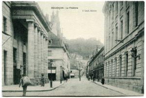 Le théâtre autrefois vue depuis le côté rue de la Préfecture