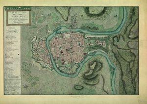 Plan ancien de Besançon de 1786