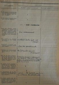 Extrait du dossier de naturalisation page 5