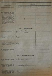 Extrait du dossier de naturalisation page 6