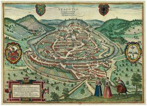 Plan ancien de Besançon de 1575