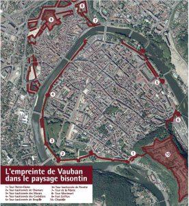 Le schéma de défense de la ville de Besançon