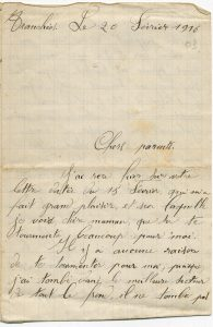 Correspondance d'un soldat