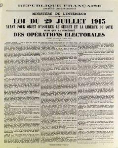 Loi de 1913 sur le vote