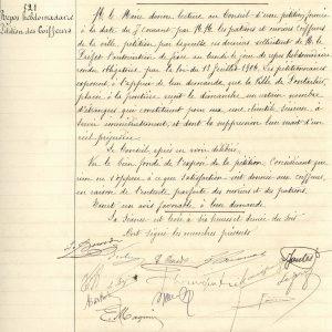Une délibération du conseil municipal de Pontarlier