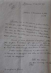 Une lettre de dénonciation en 1936