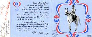 La réponse du maréchal Pétain