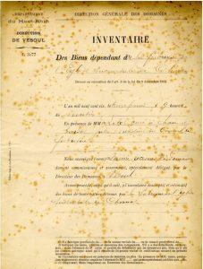 Inventaire des biens dépendants de la fabrique de l'église succursale de Chaux.