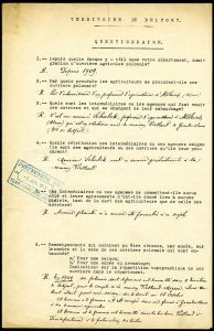 Le recensement des ouvriers Polonais dans le Territoire de Belfort en 1909